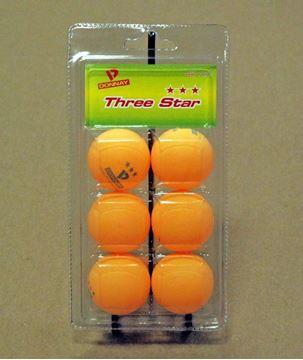 Imagen de Pelotas Donnay Ping Pong x 6 - 3 ★★★ Naranjas