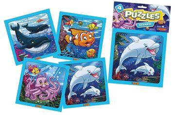 Imagen de 4 Puzzles 4 piezas - Acuario