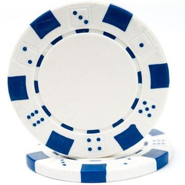 Imagen de Fichas De Poker 11.5 Grs. Sin Valor Blanca