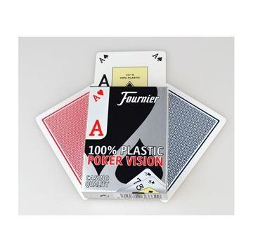 Imagen de Naipe Fournier 100% Plástico - Poker Vision