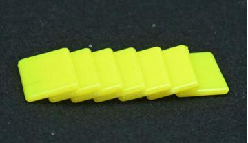 Imagen de Fichas rectangulares 20 x 40mm x 100 Unidades AMARILLAS