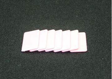 Imagen de Fichas rectangulares 20 x 40mm x 100 Unidades BLANCAS