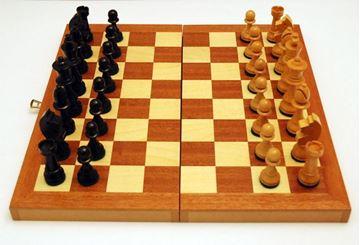 Imagen de Caja-tablero de ajedrez Nº 7 c/fichas
