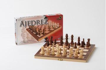 Imagen de Ajedrez Caja-Tablero Enchapada 22cm