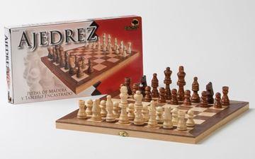 Imagen de Ajedrez Caja-Tablero Enchapada 34cm
