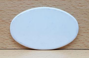 Imagen de Fichas ovaladas 45 x 70mm x 100 Unidades BLANCAS