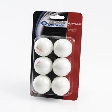 Imagen de Pelotita Ping Pong Donic Avantgarde 3 Estrellas en blister x 6 unidades